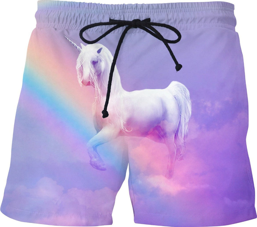 Unicorn and Rainbow Swim Shorts