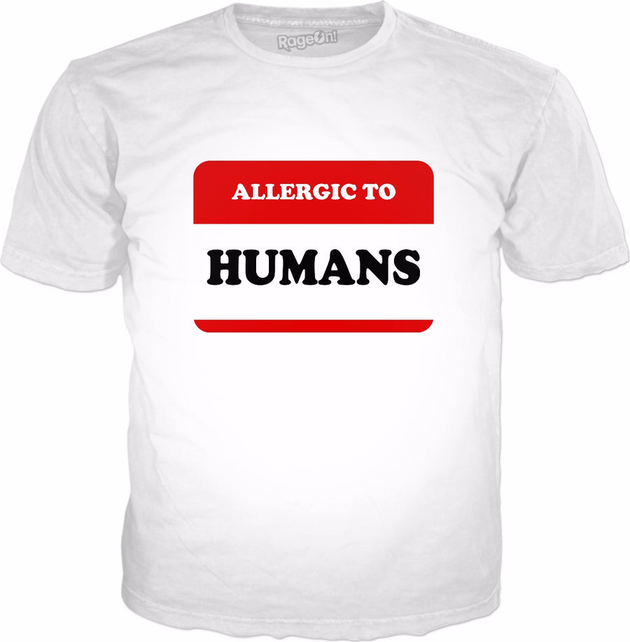 Allergic To Humans T-Shirt - Funny Introvert