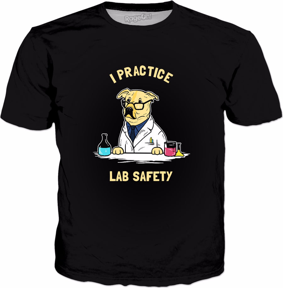 Practice Lab Safety T-Shirt - Funny Labrador Dog Scientist