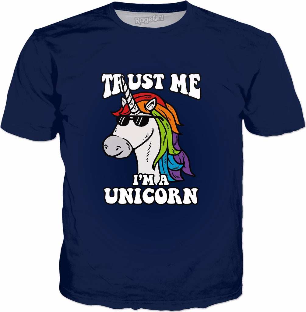 Trust Me I'm A Unicorn T-Shirt - Funny Please Help Me Text