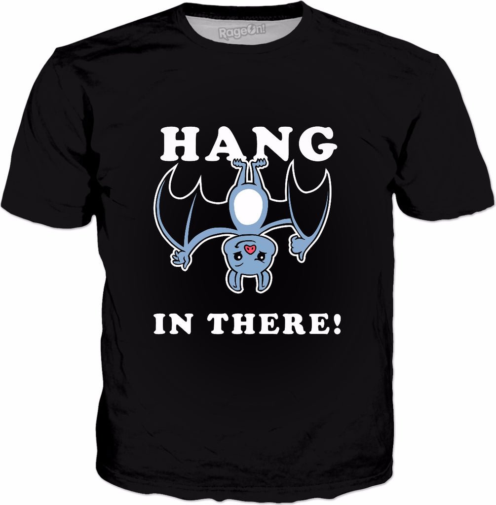 Hang In There Bat T-Shirt - Funny Bat Halloween Pun
