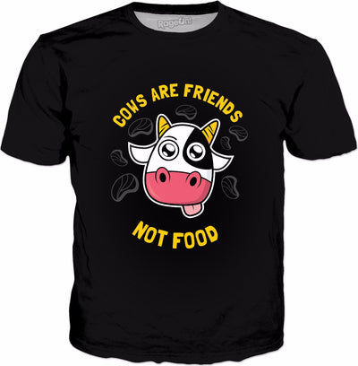 Cows Are Friends Not Food T-Shirt - Funny Vegan Vegetarian