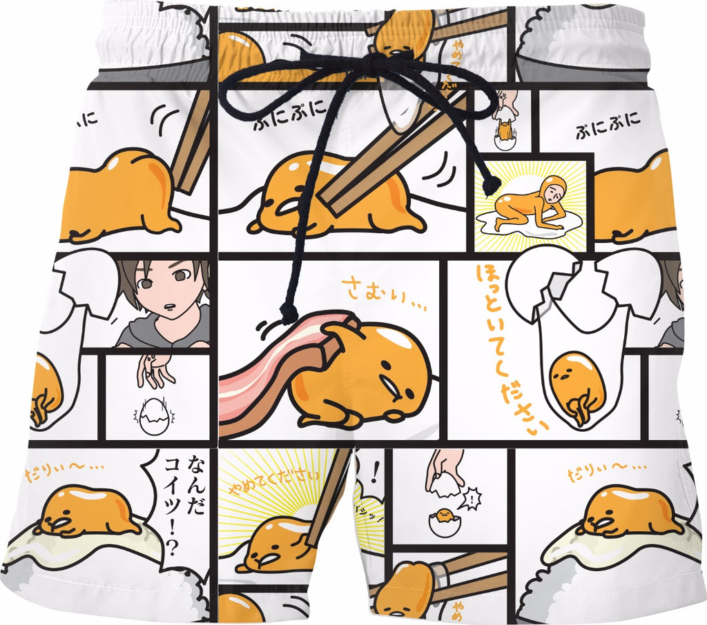 Gudetama Comic Swim Shorts
