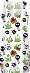 Om Nom & Spider Pattern Simple Dress