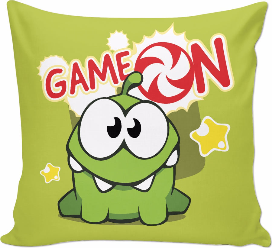 OM Nom Game On Couch Pillow