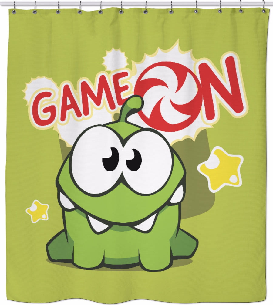 Om Nom Game On Shower Curtain