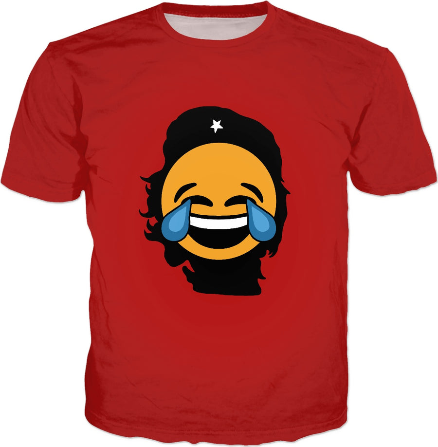 Che Guevara Crying Emoji T-Shirt - Emoticon Laughing Tears