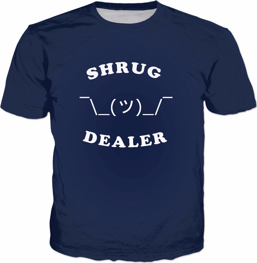 Shrug Dealer T-Shirt - Funny Shrugging Emoji Tee