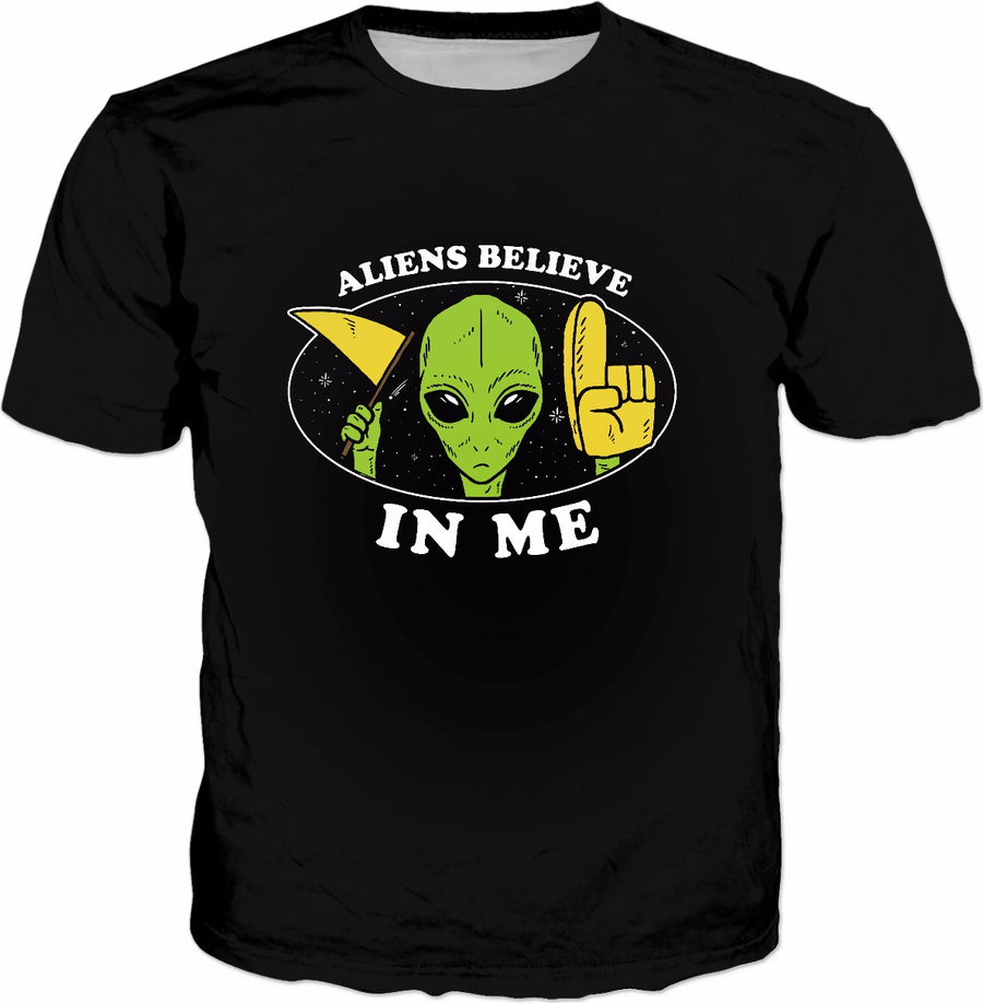 Aliens Believe In Me T-Shirt - Wholesome Sasquatch Yeti