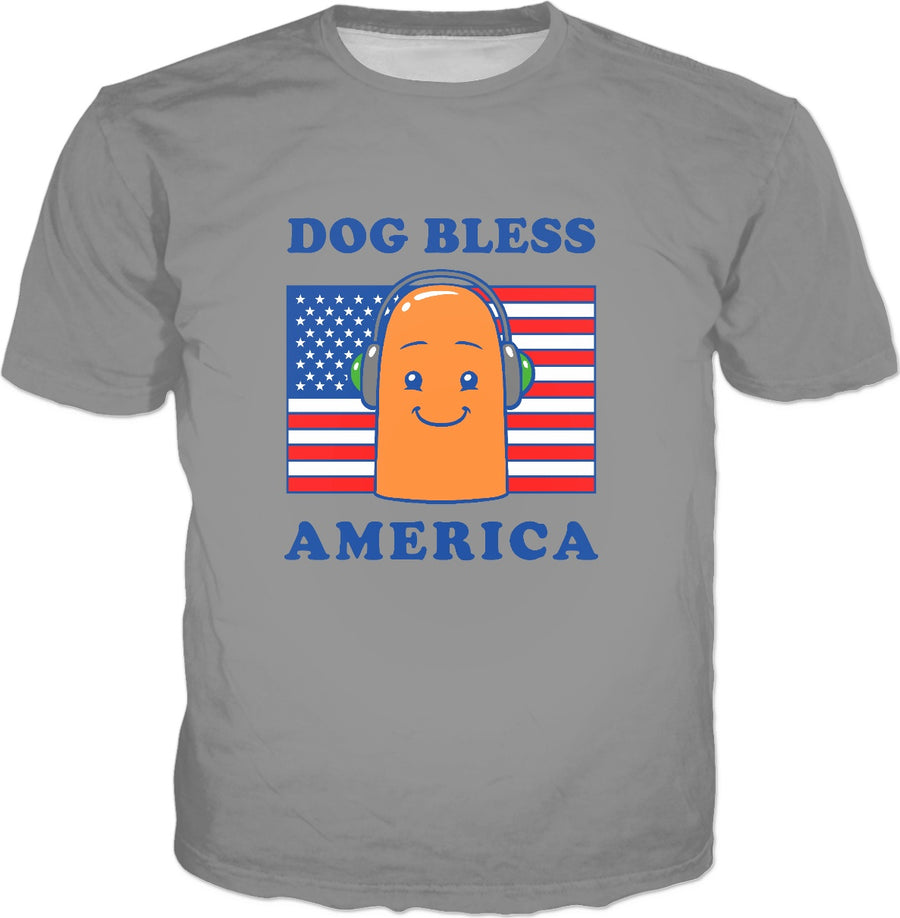 Dog Bless America T-Shirt - Hot Dog Filter Meme
