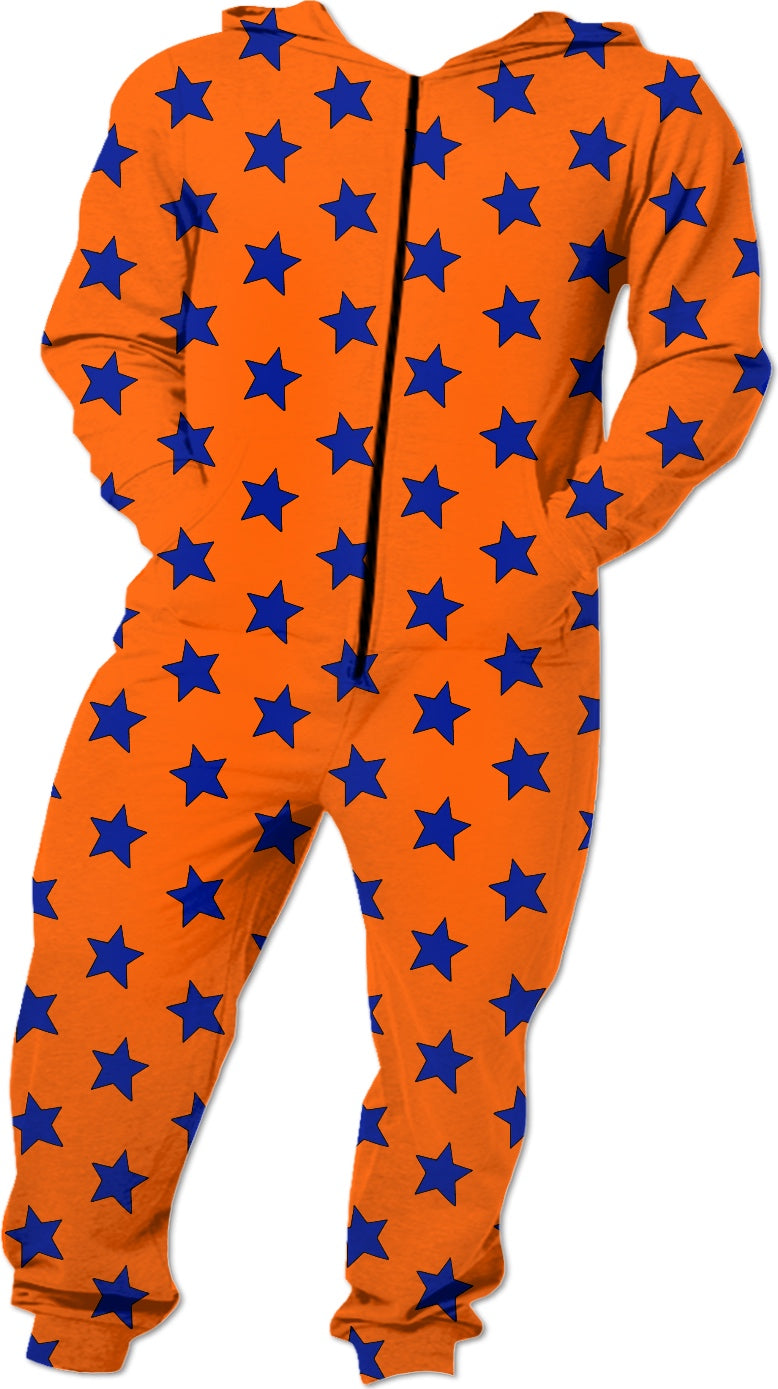 Blue Stars Orange Onesie