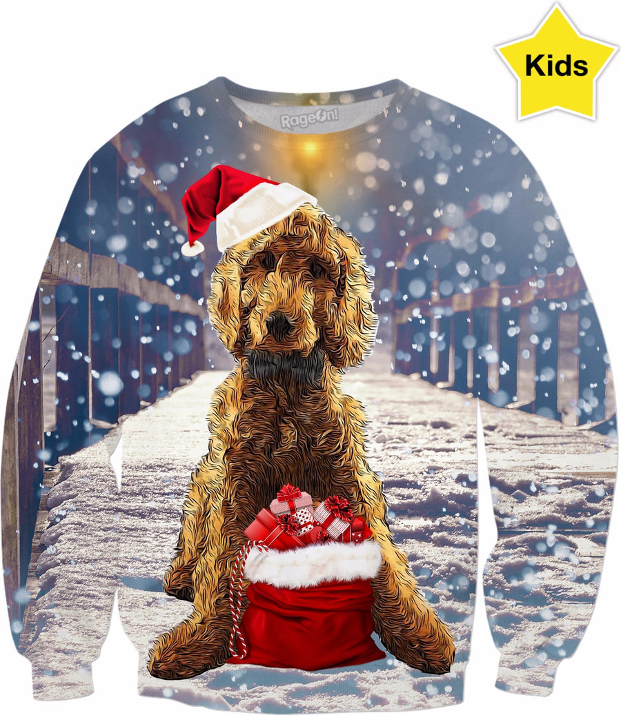 Dog Goldendoodle Kids Sweatshirt