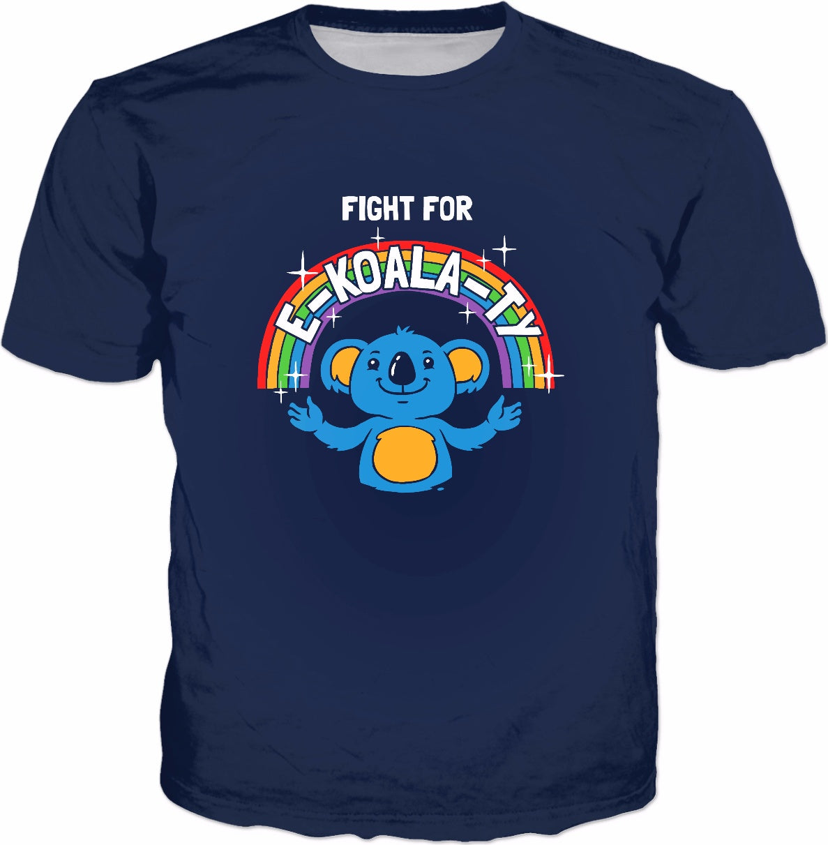 Fight For E-Koala-ty T-Shirt - Cute Koala Bear Equality Pun