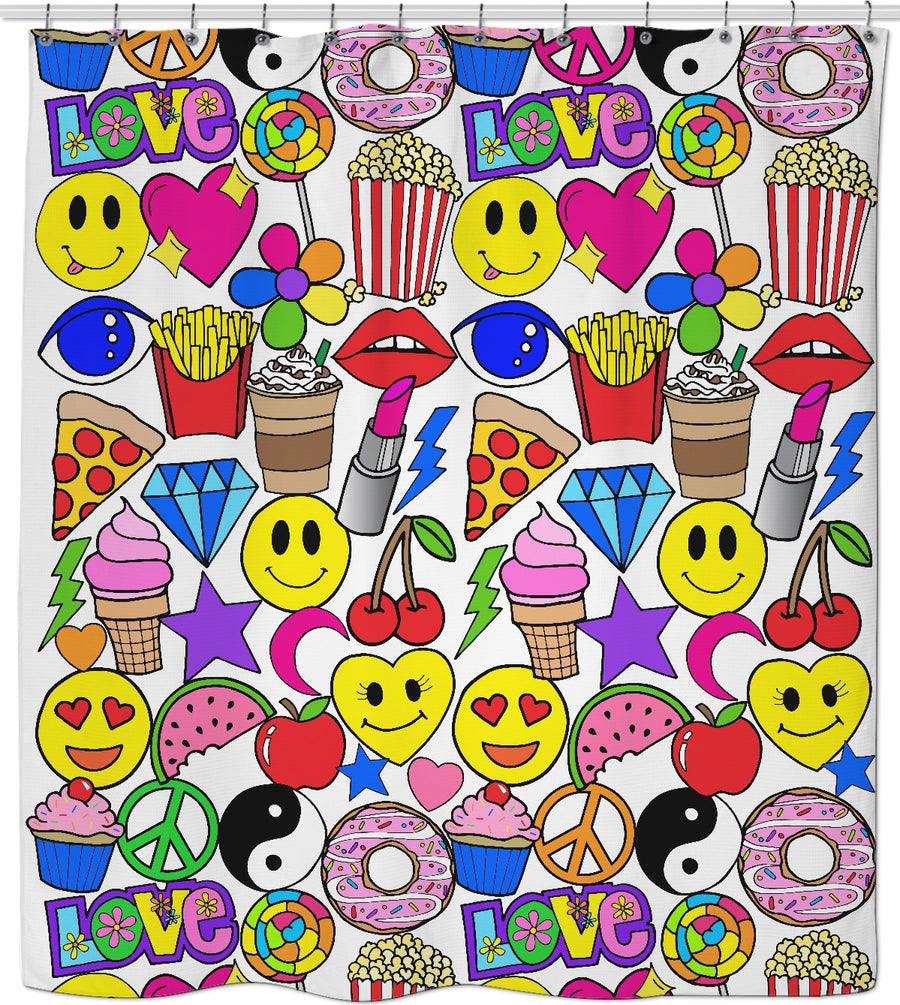 Emoji Love Shower Curtain