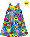 Love This Stuff - Blue Kids Dress
