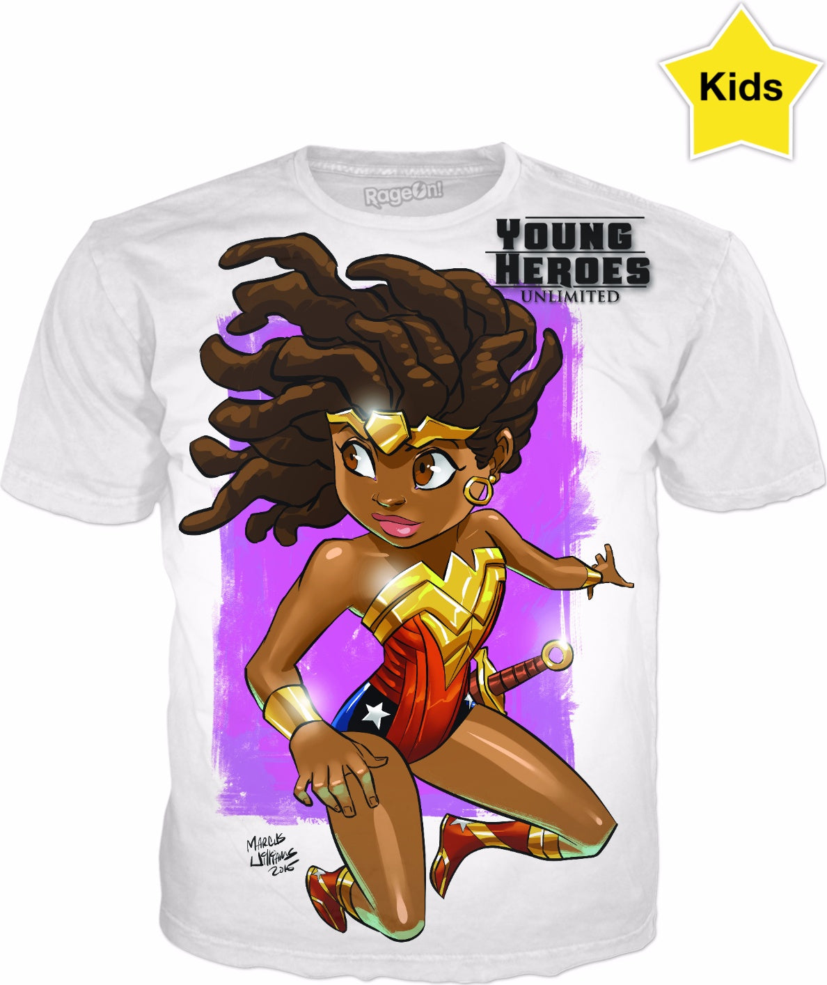 Young Heroes: Unlimited (Limited Edition Kids Shirts)- Nubia