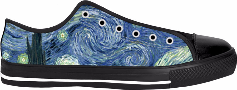 Starry Night Black Low Tops
