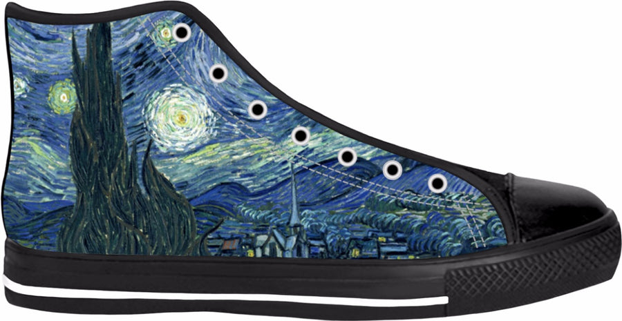 Starry Night Black High Tops
