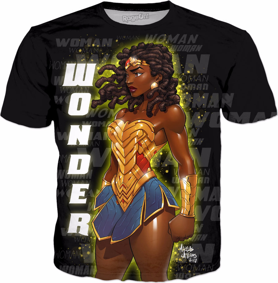 Wonder Woman- Nubia (black background)