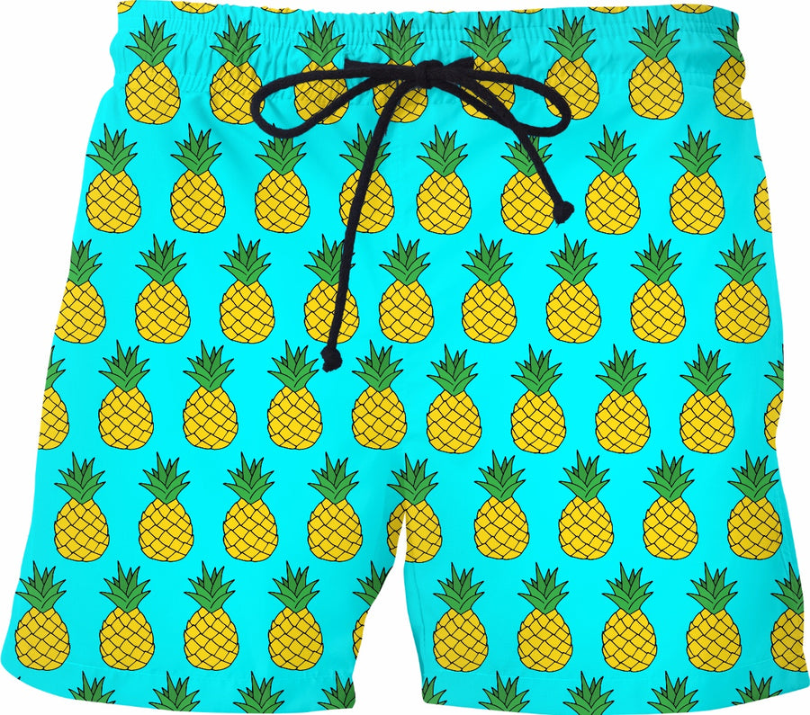 Pineapple Swim Shorts - Turquoise