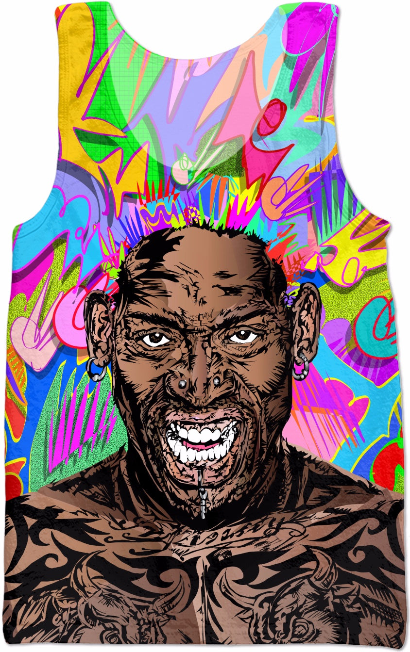 Dennis Rodman All-Over-Print Sublimated Tank Tops, Swim Shorts and Underwear