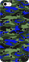 Black, Blue, Green Camo Stars Phone Case