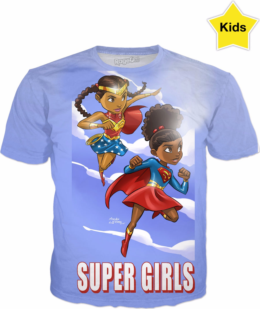 Young Heroes: Unlimited (Limited Edition Kids Shirts)- Super Girls