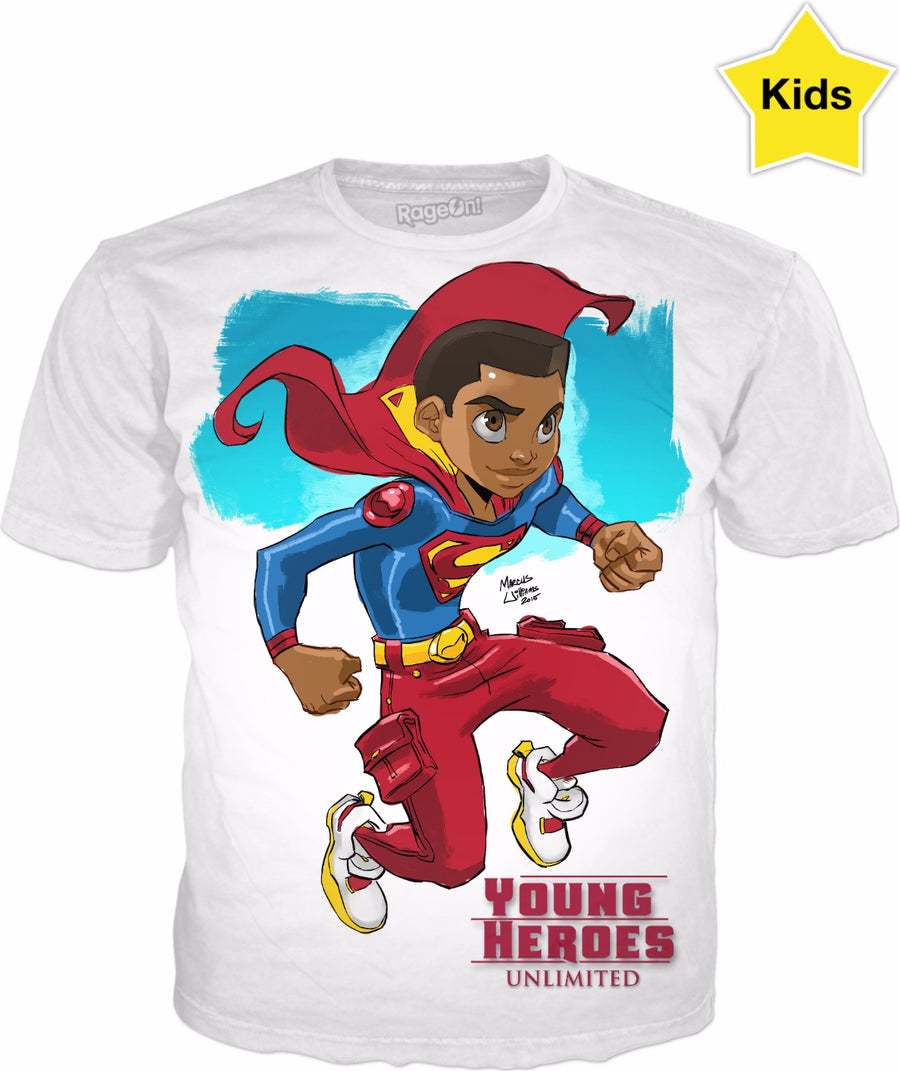 Young Heroes: Unlimited (Limited Edition Kids Shirts)- Super Boy (Val Zod)