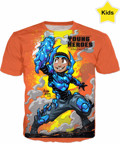 Young Heroes: Unlimited (Limited Edition Kids Shirts)- Blue Beetle