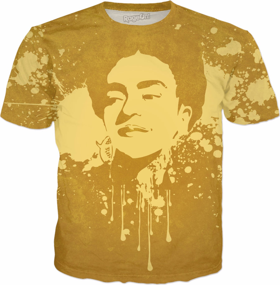 Frida Splatter Yellow T-Shirt