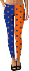 Orange & Blue Split Stars Leggings