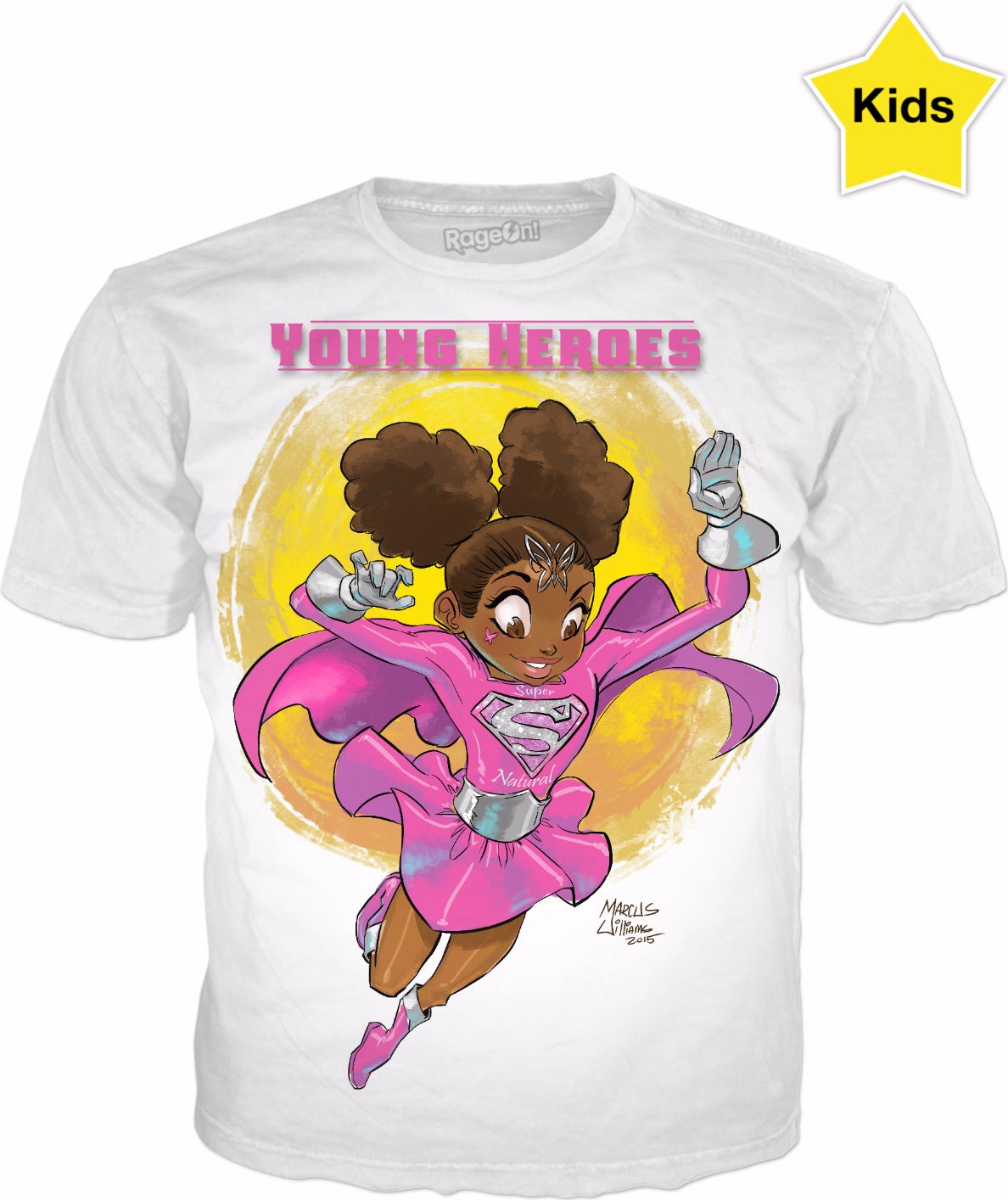 Young Heroes: Unlimited (Limited Edition Kids Shirts)- Super Natural Girl