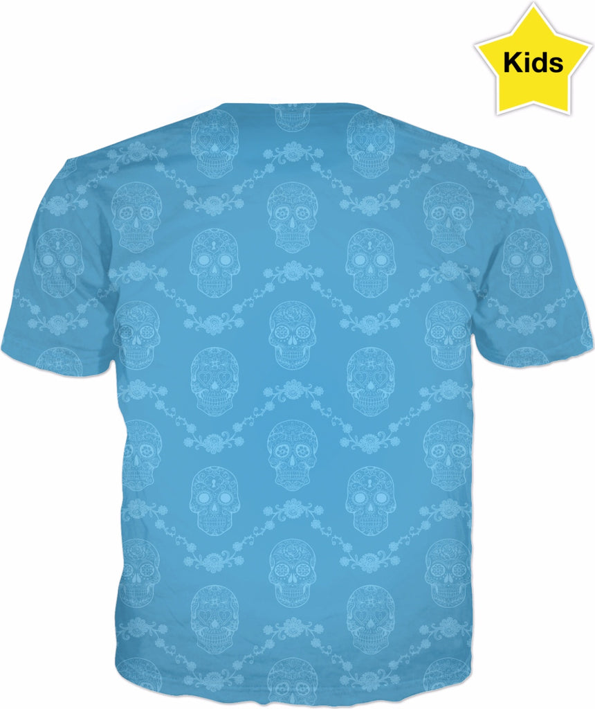 Kids' Blue Sugar Skull T-Shirt