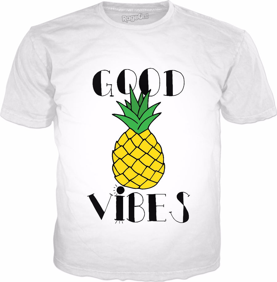 Good Vibes Pineapple Classic White T-Shirt