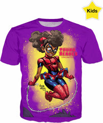 Young Heroes: Unlimited (Limited Edition Kids Shirts)- Spider Girl (Fan Art)