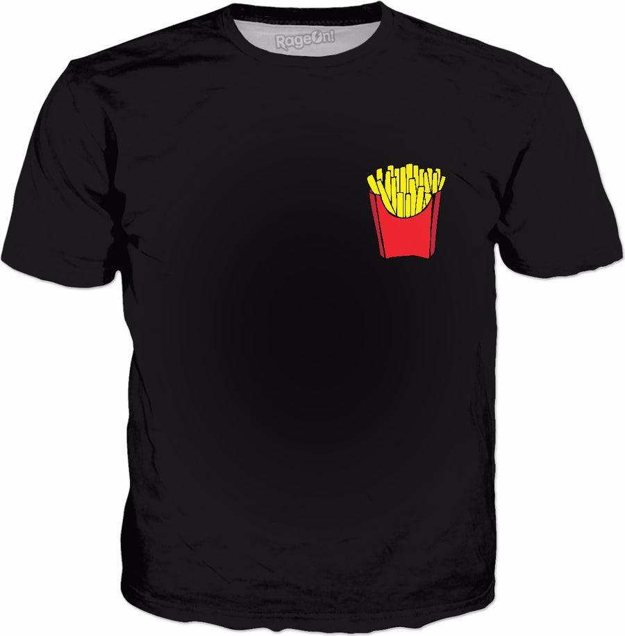 French Fry - Small Classic Black T-Shirt