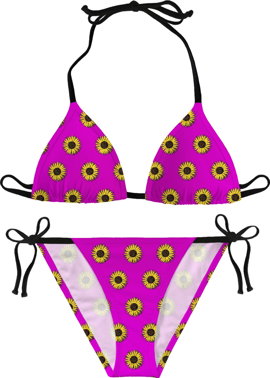 sun flower pattern in pink