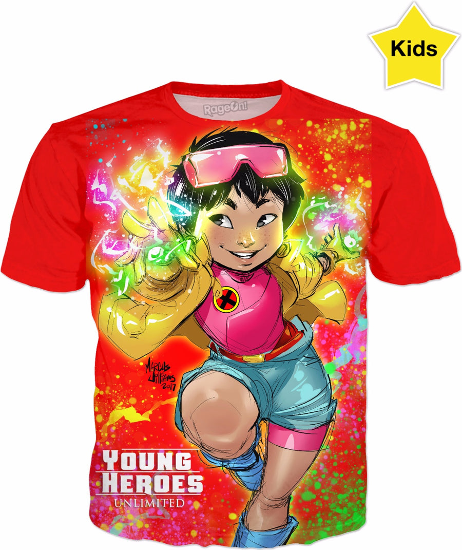 Young Heroes: Unlimited (Limited Edition Kids Shirts)- Jubilee