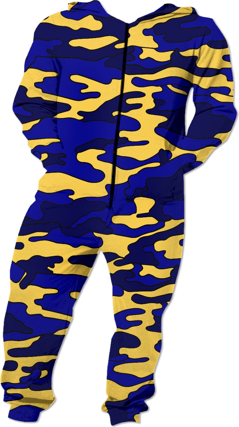 Blue & Yellow Camo Onesie