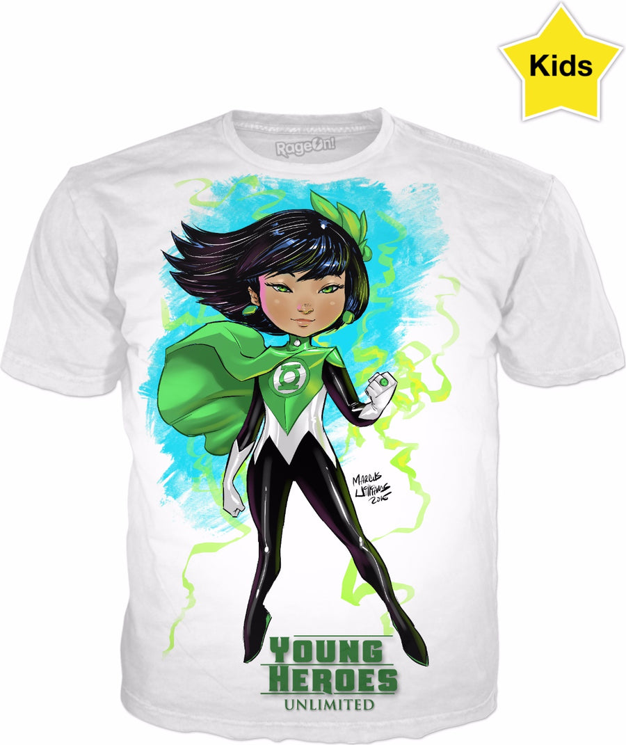 Young Heroes: Unlimited (Limited Edition Kids Shirts)- Green Lantern (Fan Art)