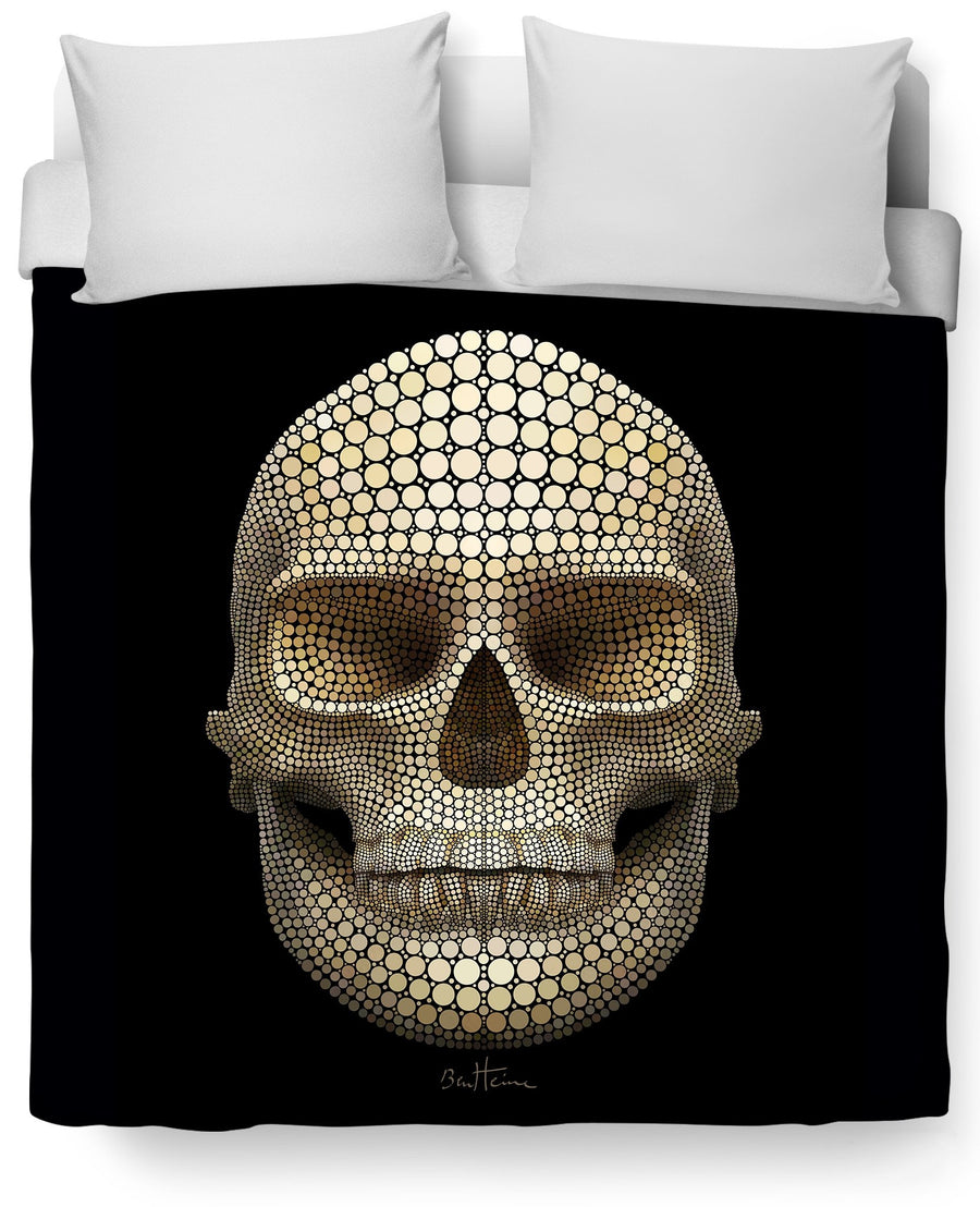Skull Dots Duvet Cover