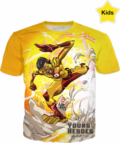 Young Heroes: Unlimited (Limited Edition Kids Shirts)- Kid Flash (Wally West)