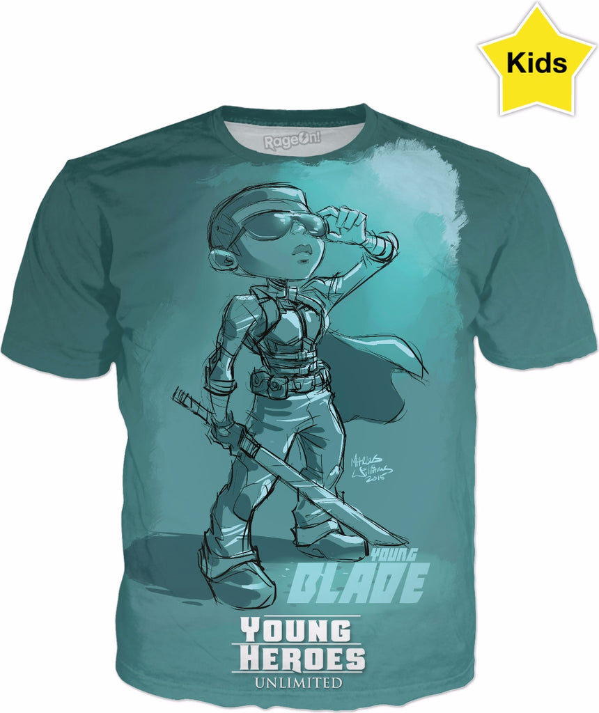 Young Heroes: Unlimited (Limited Edition Kids Shirts)- Blade