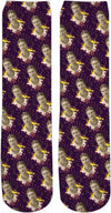 Frida Portrait Pattern Crew Socks