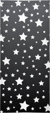 """White Stars Grey Ombre"" Beach Towel"