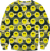 """Smiley Green Camo"" Sweatshirt"