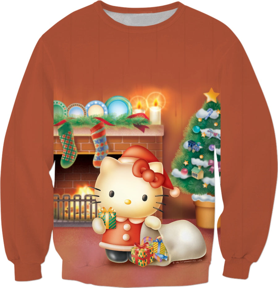 Santa Hello Kitty Christmas Sweater