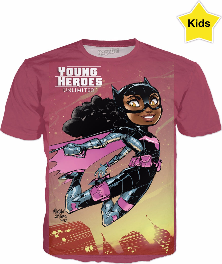 Young Heroes: Unlimited (Limited Edition Kids Shirts)- Bat Girl (Tiffany Fox)