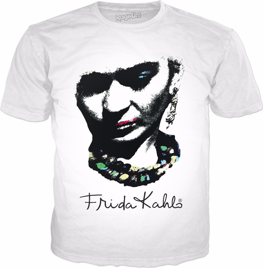 Frida Kahlo Pop Art Classic White T-Shirt