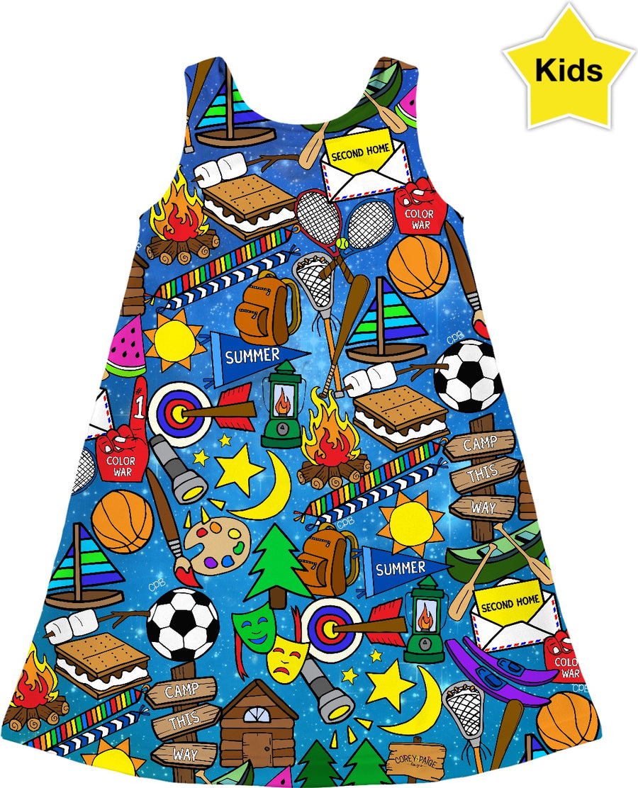 Galaxy Camp Kids Dress